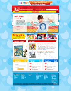 Homepage for redesigned owlkids website