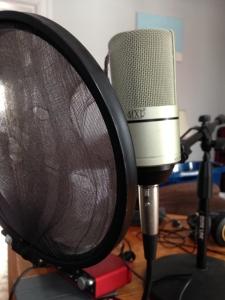 Steve's Condenser mic with pop filte